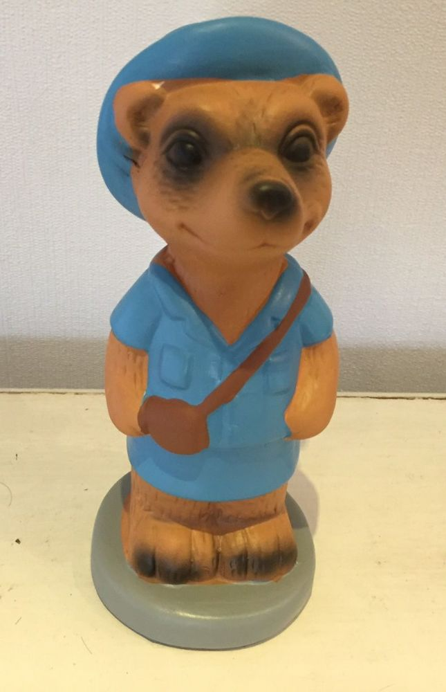 Safari Sightseeing Meerkat Money Bank - Blue